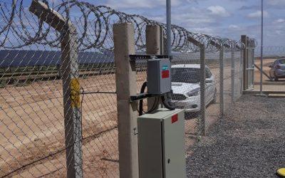 Proteção perimetral em sub estação de energia solar no nordeste, através de Cabo Sensor