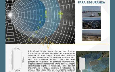 Radar para Proteção Perimetral e Segurança Eletrônica – Alcance até 450 Metros